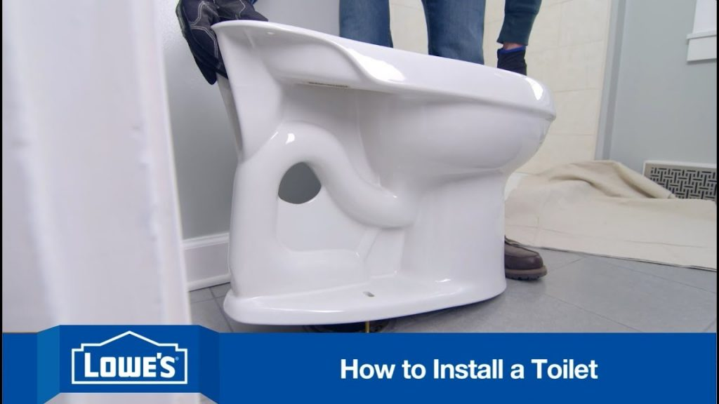 how to install toilet